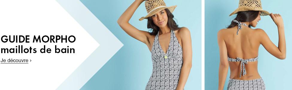 Maillot de bain femme haut de maillot culotte de bain femme femme kiabi - Sortie de plage femme ...